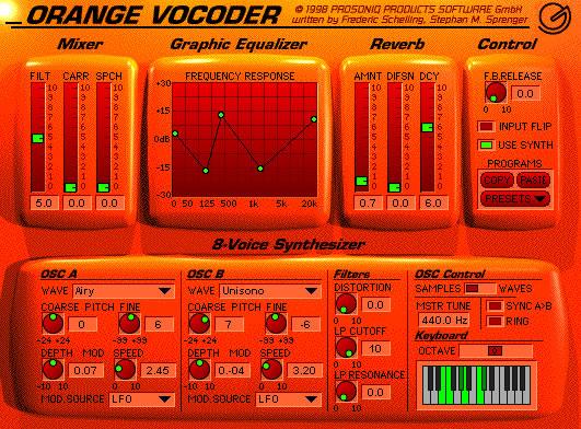 Orangevocoder by prosoniq